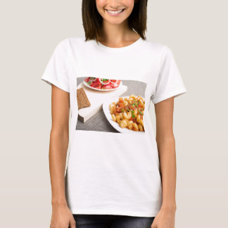 Cavatappi Pasta with sauce of stewed vegetables T-Shirt