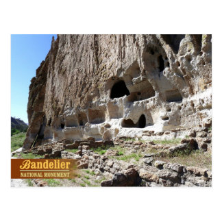 Cavates at Bandelier National Monument, NM Postcard
