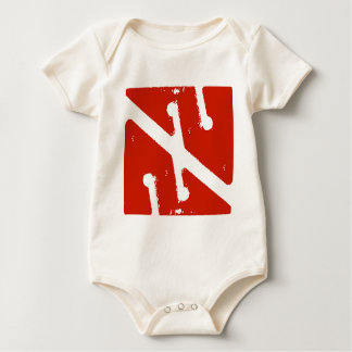 cave arrow flag baby bodysuit
