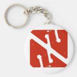 cave arrow flag basic round button keychain
