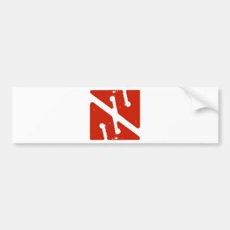 cave arrow flag bumper sticker