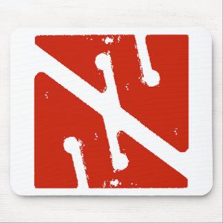 cave arrow flag mouse pad