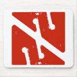 cave arrow flag mousepads