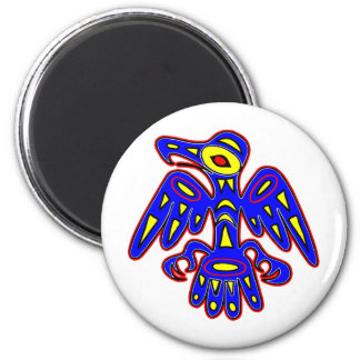 Cave Art, Ancient Bird Drawing 2 Inch Round Magnet