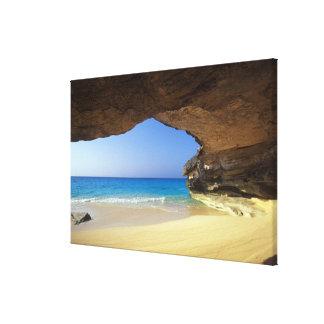 Cave at French Bay, San Salvador Island, Canvas Print
