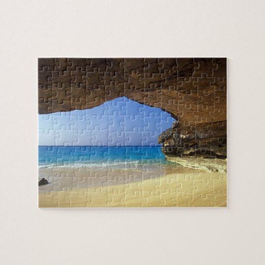 Cave at French Bay, San Salvador Island, Jigsaw Puzzle