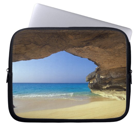 Cave at French Bay, San Salvador Island, Laptop Sleeve