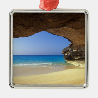 Cave at French Bay, San Salvador Island, Metal Ornament