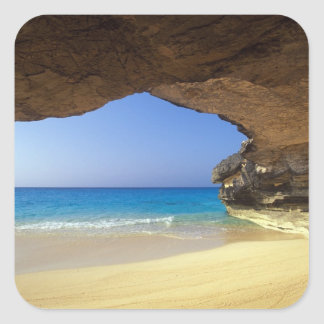 Cave at French Bay, San Salvador Island, Square Sticker