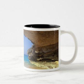 Cave at French Bay, San Salvador Island, Two-Tone Coffee Mug