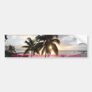 Cave Beach, Jamaica de la puesta del sol del docto Pegatina Para Auto