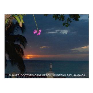 Cave Beach, Jamaica de la puesta del sol del Postal