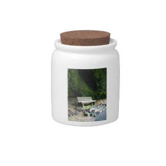 Cave Bench Candy Jars