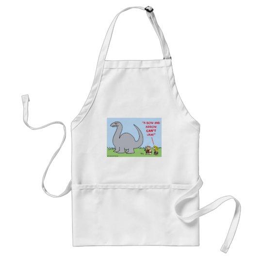 cave bow and arrow can't jam dinosaur adult apron