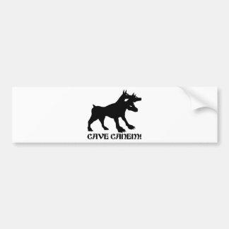CAVE CANEM - BEWARE OF DOG Latin Bumper Stickers