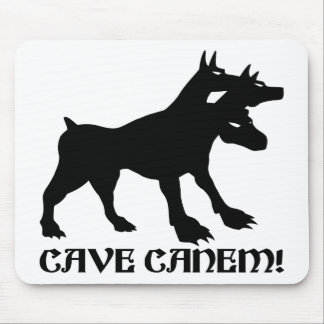 CAVE CANEM - BEWARE OF DOG Latin Mouse Pad