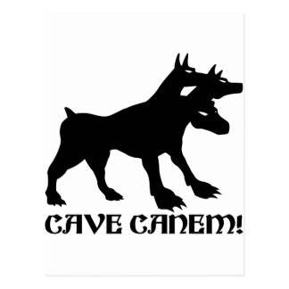 CAVE CANEM - BEWARE OF DOG Latin Postcard