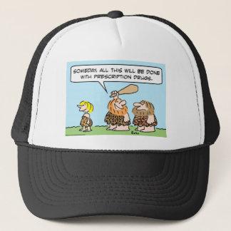 cave club prescription drugs trucker hat