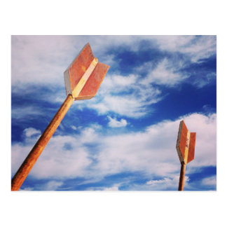 Cave Creek, AZ Tourist Postcard Arrow Sky