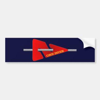 Cave Diver (Line Marker) Bumper Sticker