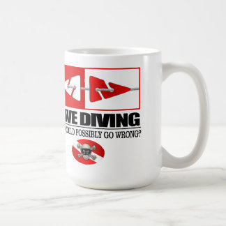 Cave Diving (Line Markers) Coffee Mug