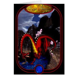 Cave Dragon Greeting Card
