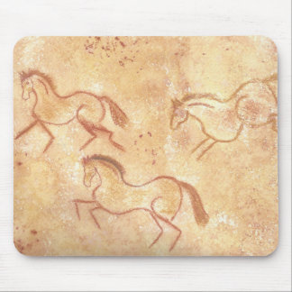 Cave Drawing Painting of Horses Mousepads