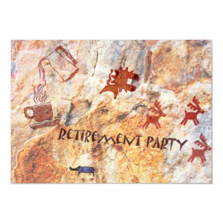 Cave Drawing Retirement Card