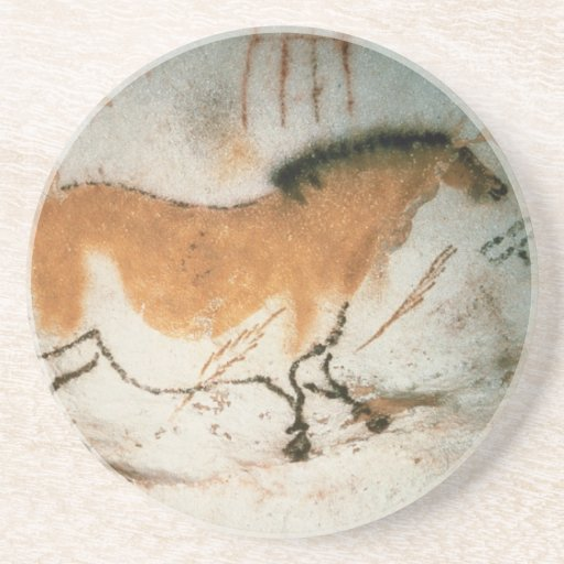 Cave drawings Lascaux French Prehistoric Drawings Drink Coasters