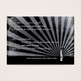 cave dweller. business card