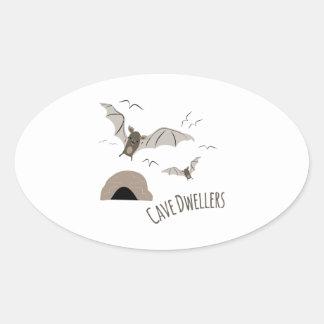 Cave Dwellers Oval Sticker