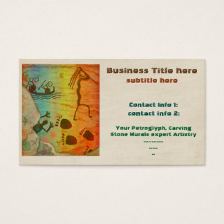 Cave Dwelling Native American TRADE ARTIST TEMP Business Card