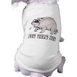 Cave el cerdo camisas de mascota