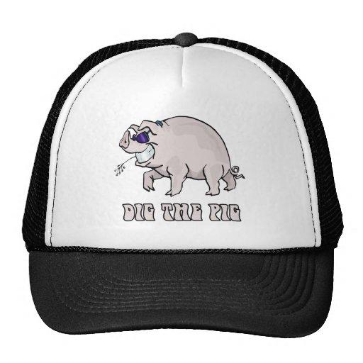 Cave el cerdo gorros bordados