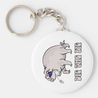 Cave el cerdo llavero personalizado