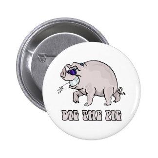 Cave el cerdo pin redondo 5 cm