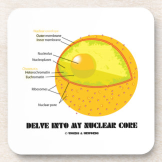 Cave en mi base nuclear (la actitud del núcleo de posavasos