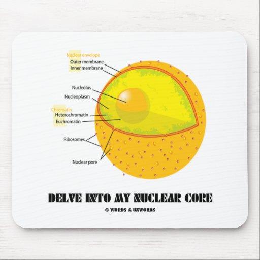 Cave en mi base nuclear (la actitud del núcleo de  tapete de raton