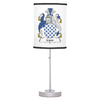 Cave Family Crest Table Lamp