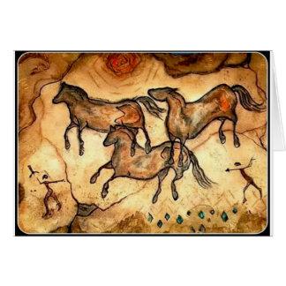 Cave Horses ** Card
