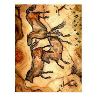 Cave Horses ** Postcard