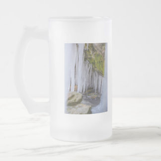 Cave Icicles Frosted Glass Beer Mug