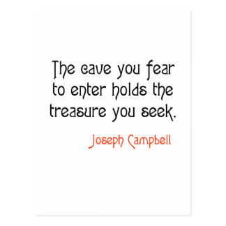 Cave Joseph Campbell Inspirational Quote Postcard