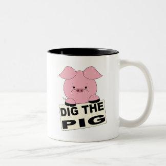 Cave la taza del cerdo