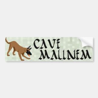 Cave Malinem Car Bumper Sticker