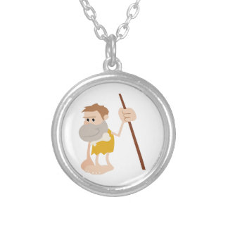 Cave Man Personalized Necklace