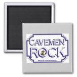Cave Men Rock BW Fridge Magnets