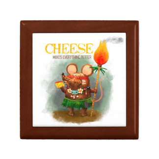 Cave Mouse & The Cheese Jewelry Box