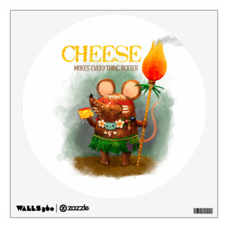 Cave Mouse's Golden Cheese Wall Sticker