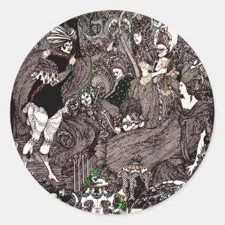 Cave of Spleen Gothic Artwork Classic Round Sticker